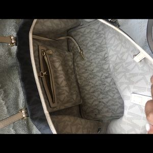 Michael Kors Bags - Michael Kors monogrammed tote and wallet.
